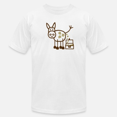 Pooping Ass Donkey poops gold - V2 - Men's  Jersey T-Shirt