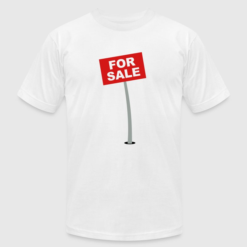 For Sale Sign - Men's Fine Jersey T-Shirt