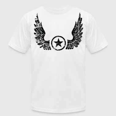 Distressed Wings distressed wings black - Men's Fine Jersey T-Shirt