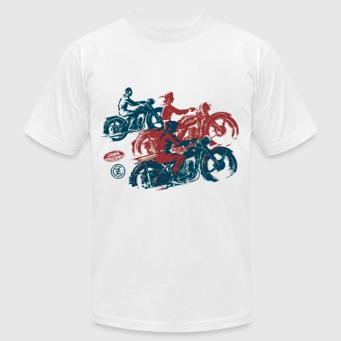 moto two stroke - Men's Fine Jersey T-Shirt