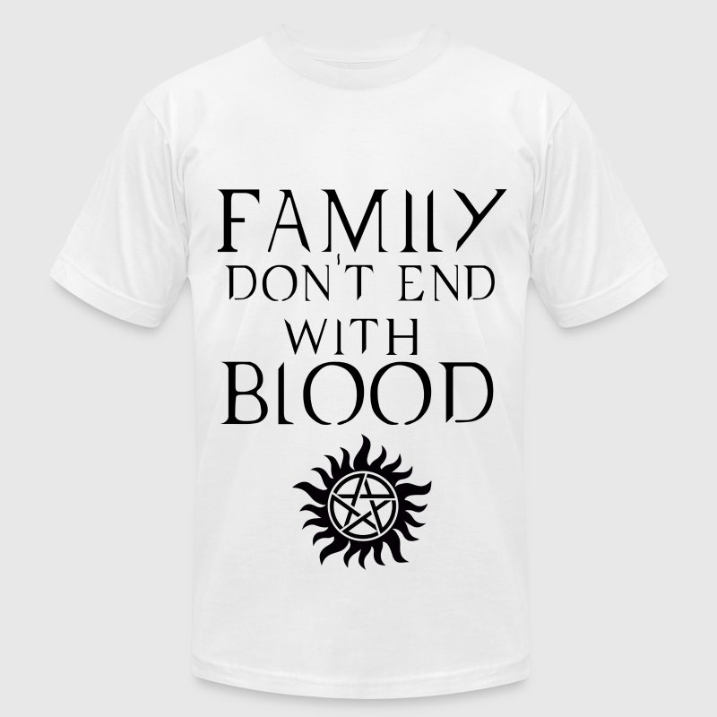 Family don't end with blood Dark - Men's Fine Jersey T-Shirt