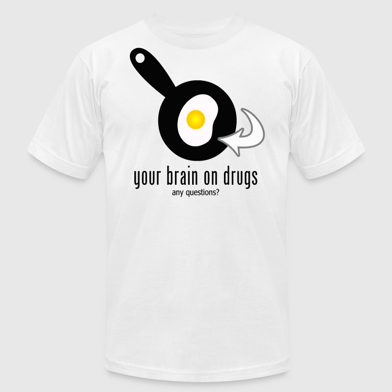 Your brain on drugs - Men's Fine Jersey T-Shirt