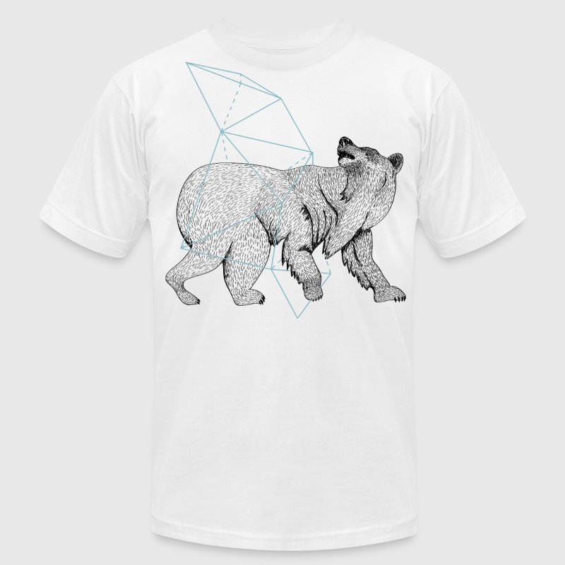 bear geometric - Men's Fine Jersey T-Shirt
