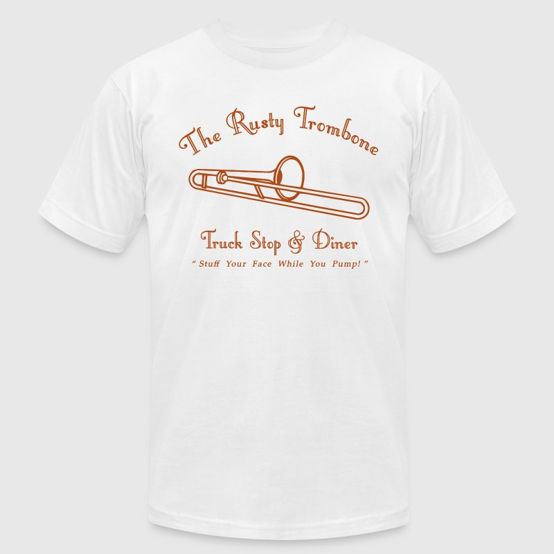 The Rusty Trombone - Men's Fine Jersey T-Shirt
