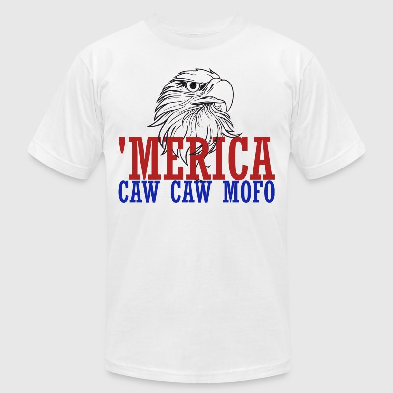 America caw caw eagle humor - Men's Fine Jersey T-Shirt