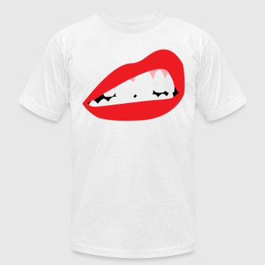Lip Bite Crewneck - Men's Fine Jersey T-Shirt