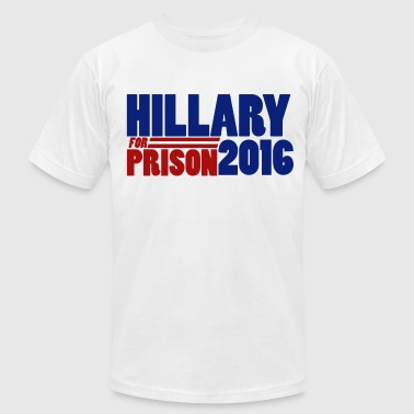 Hillary for prison 2016 - Men's Fine Jersey T-Shirt