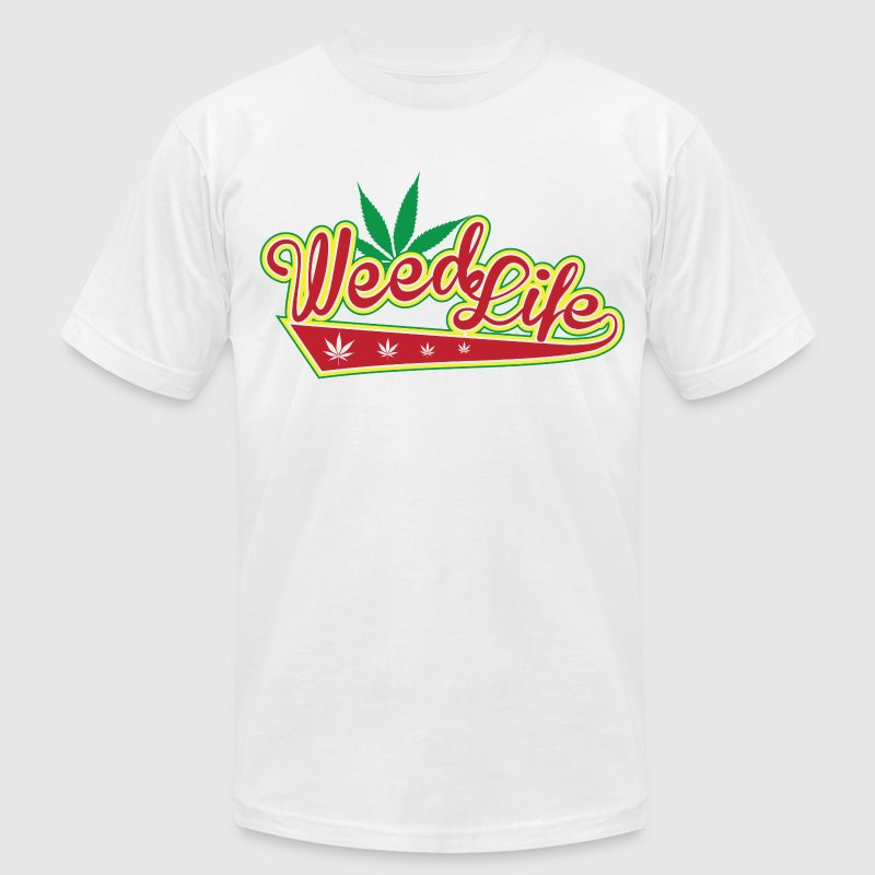 8 70's Weed - Red - Men's Fine Jersey T-Shirt