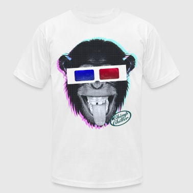 Chimp Chiller - 3D - Men's Fine Jersey T-Shirt