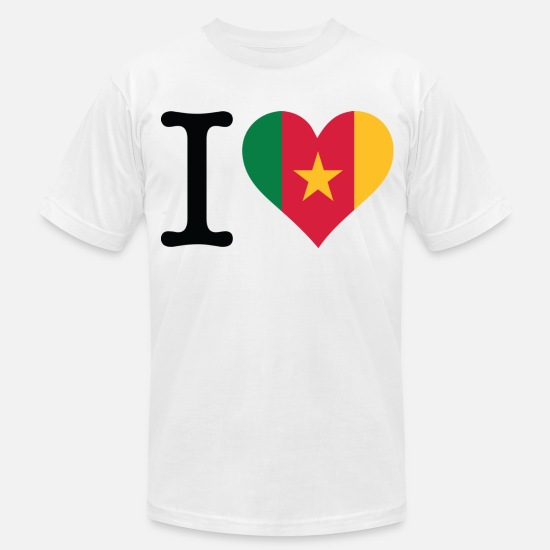 Africa T-Shirts - I love Cameroon - Men's Jersey T-Shirt white