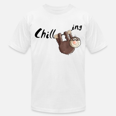 Sloth Cartoon Chilling - Sloth - Cartoon - Men's  Jersey T-Shirt