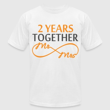 Anniversary Mr & Mrs Infinite 2 Years - Men's Fine Jersey T-Shirt