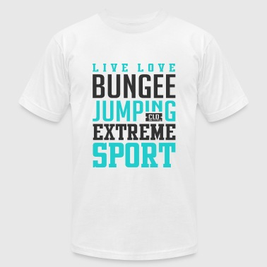 Bungee Jumping Extreme Sport - Men's Fine Jersey T-Shirt