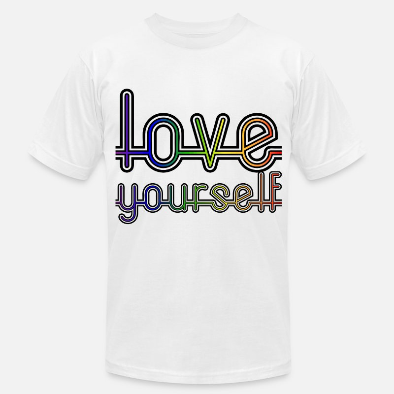 Gay T-Shirts - Love Yourself - Men's Jersey T-Shirt white