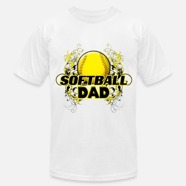 Softball Dad Clothes Softball Dad Ball On Fire - Men's  Jersey T-Shirt