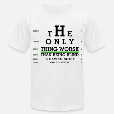 Sight Eye Chart - Sight with no Vision - Men's  Jersey T-Shirt
