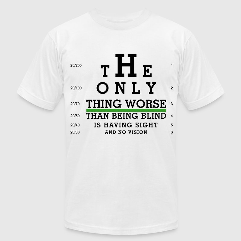 Eye Chart - Sight with no Vision - Men's Fine Jersey T-Shirt