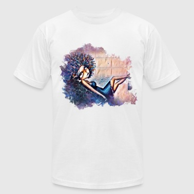Afro afro girl - Men's Fine Jersey T-Shirt