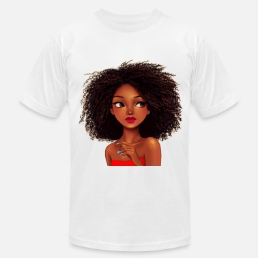 Curly curly hair girl - Men's  Jersey T-Shirt