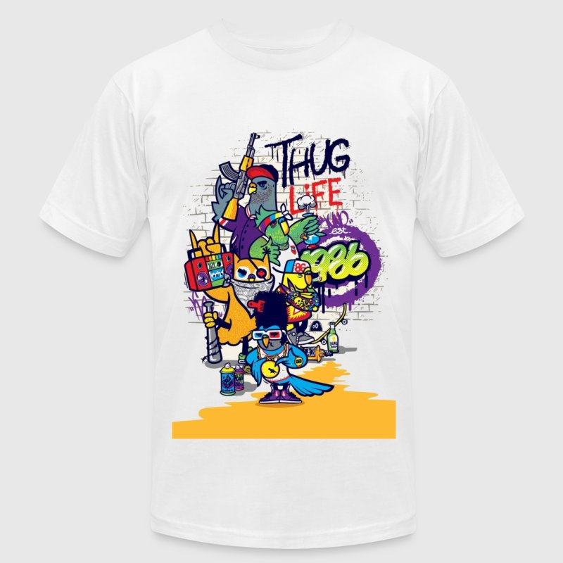 thug life cartoon - Men's Fine Jersey T-Shirt