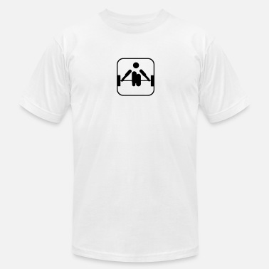 Weightlifter Icons weightlifting - Men's  Jersey T-Shirt