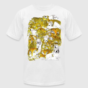 wild cat orgy - Men's Fine Jersey T-Shirt