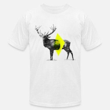 Cut Out Lines Cut Out Deer - Men's  Jersey T-Shirt