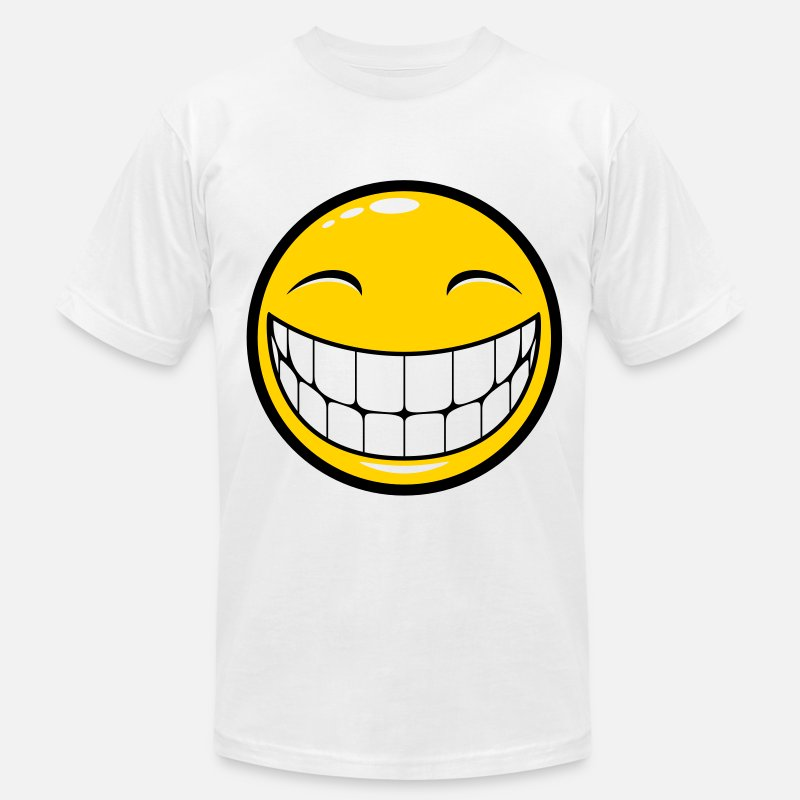 Dents T-Shirts - Smiley Face Grin (2c)++2012 - Men's Jersey T-Shirt white
