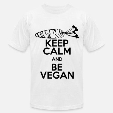 Keep Calm Be Vegan keep calm be vegan - Men's Jersey T-Shirt