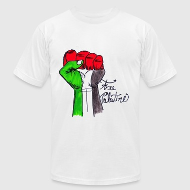 Fist In The Air free palestine - Men's Fine Jersey T-Shirt