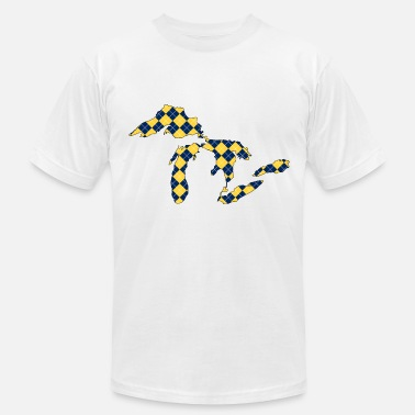 Argyle Great Lakes Plaid.png - Men's  Jersey T-Shirt