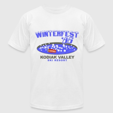 Winterfest 86 Hot Tub - Men's Fine Jersey T-Shirt