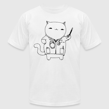 Cat Vet by Cassie Kitty Cassandra Graus (Black) - Men's Fine Jersey T-Shirt