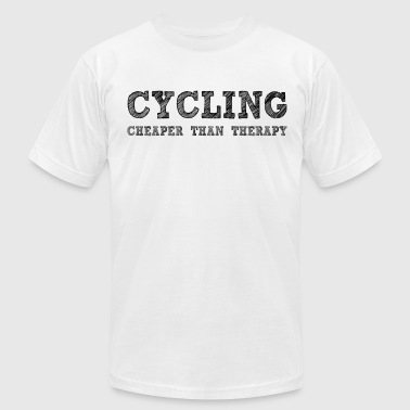 Cycling Cheaper Than Therapy - Men's Fine Jersey T-Shirt