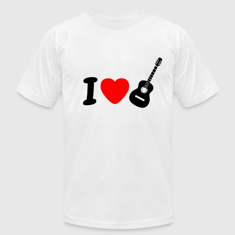 I Love Playing Guitar - Men's Fine Jersey T-Shirt