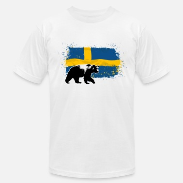 Flag Bear Sweden - Bear & Flag - Men's  Jersey T-Shirt