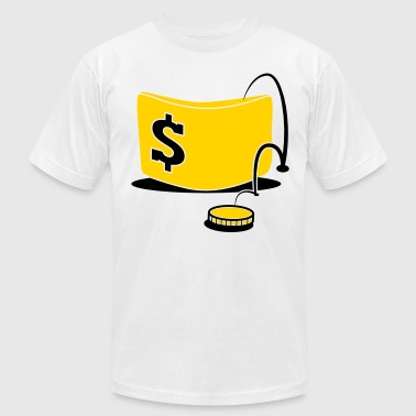 Cash Out money jumping out of wallet dollars cash banker - Men's Fine Jersey T-Shirt
