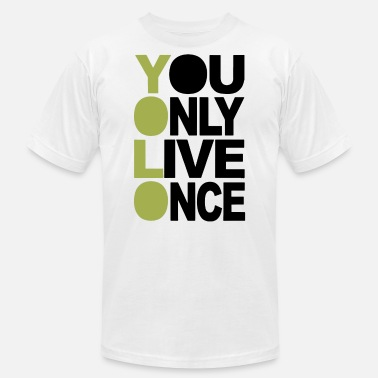 Iconic Swag You Only Live Once Neon Swag Hollywood Iconic - Men's Fine Jersey T-Shirt
