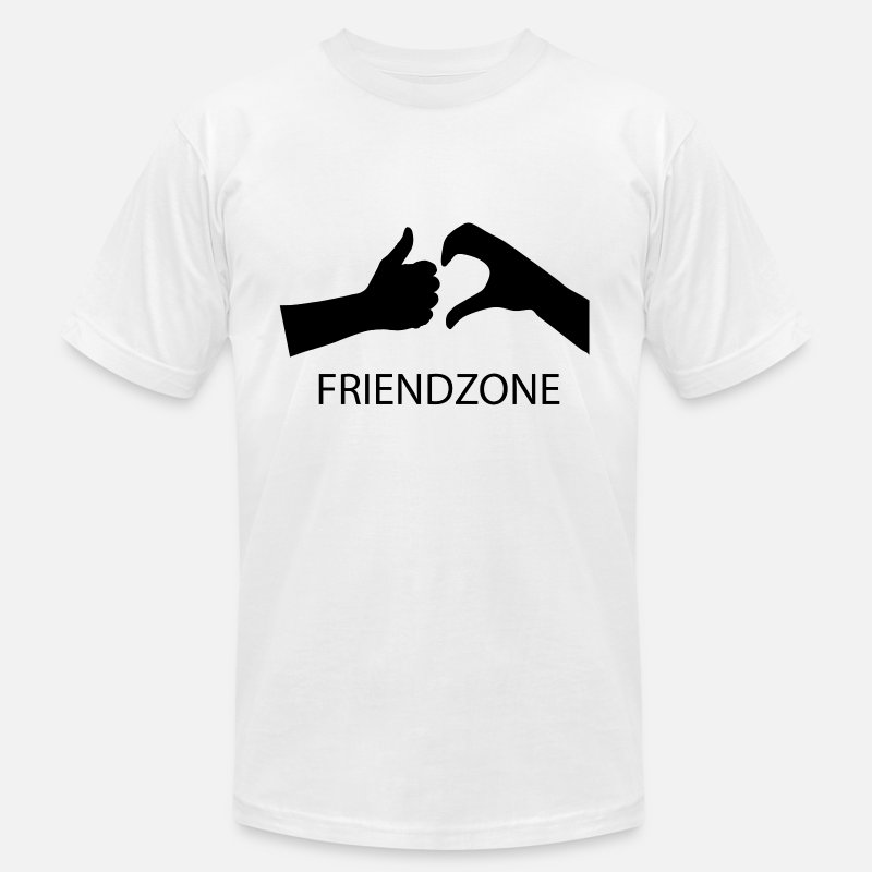 Heart Broken T-Shirts - Friendzone - Men's Jersey T-Shirt white