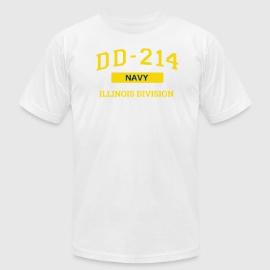 Dd214 Apparel Navy Veteran Shirt DD214 Ilinois T Shirt - Men's Fine Jersey T-Shirt
