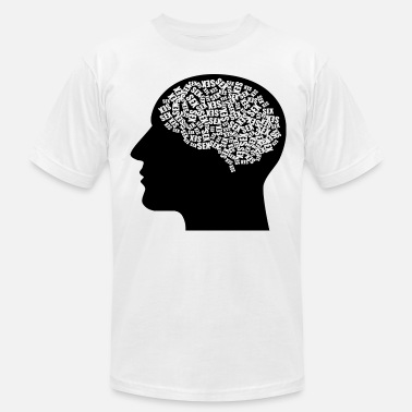 Sex Head Sex thoughts men man head gift idea - Men's Fine Jersey T-Shirt