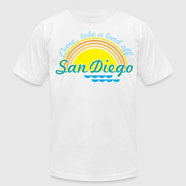 Come, take a load off - San Diego - Men's Fine Jersey T-Shirt