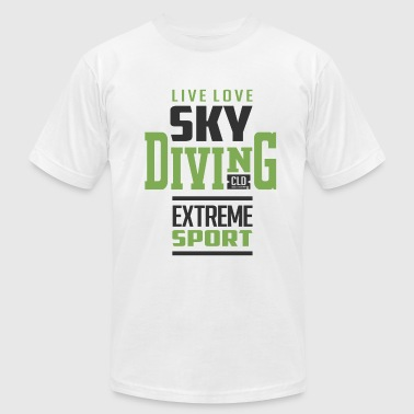 Sky Diving Extreme Sport - Men's Fine Jersey T-Shirt