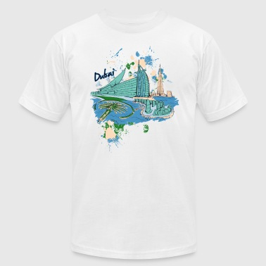 Destination Art Dubai - Men's Fine Jersey T-Shirt