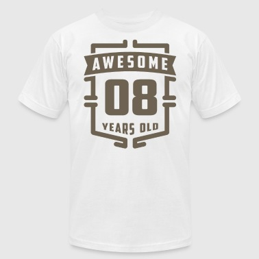 Years Of Awesome Awesome 08 Years Old - Men's Fine Jersey T-Shirt