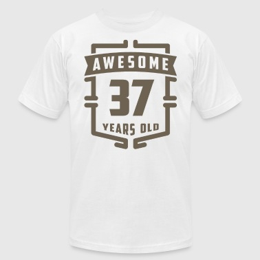 Years Of Awesome Awesome 37 Years Old - Men's Fine Jersey T-Shirt