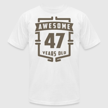 Awesome 47 Years Old - Men's Fine Jersey T-Shirt