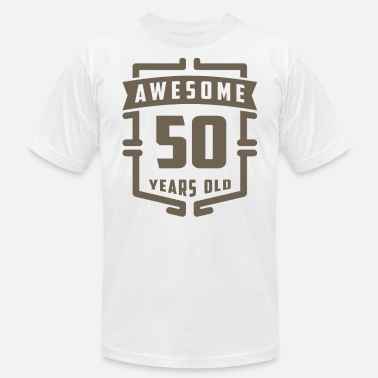Awesome 50s Awesome 50 Years Old - Men's Fine Jersey T-Shirt
