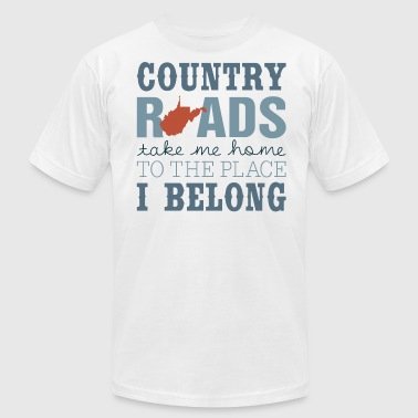 Country Roads Take Me Home To The Place I Belong - Men's Fine Jersey T-Shirt