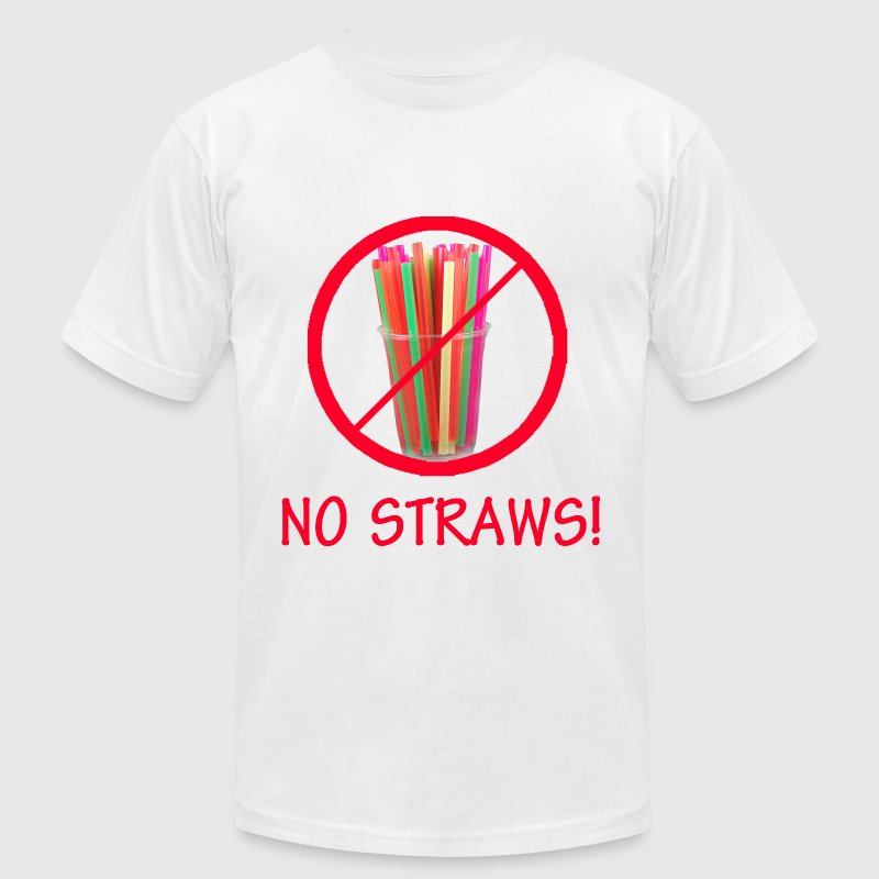 No Straws - Men's Fine Jersey T-Shirt